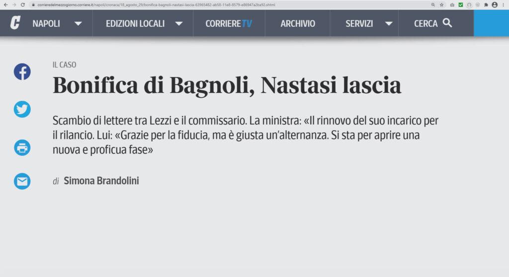 Si dimette il commissario straordinario Salvatore Nastasi.